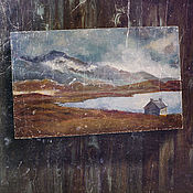 Картины и панно ручной работы. Ярмарка Мастеров - ручная работа картина Где-то в Ирландии (пасмурная осень, европейский стиль, лофт). Handmade.