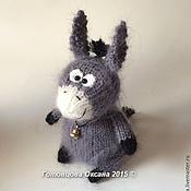 Куклы и игрушки ручной работы. Ярмарка Мастеров - ручная работа Ослик и морковка. Handmade.