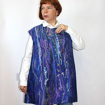 Clothing handmade. Livemaster - original item The vest is felted Cascade. large size. Handmade.