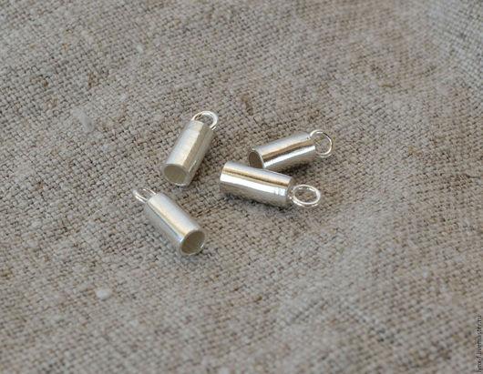 Для украшений ручной работы. Ярмарка Мастеров - ручная работа. Купить Концевики 1 ПАРА серебро 925, d 3мм. Handmade.