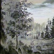 Картины и панно ручной работы. Ярмарка Мастеров - ручная работа Триптих в восточном стиле.. Handmade.
