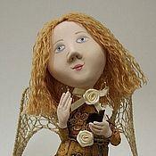 Куклы и игрушки ручной работы. Ярмарка Мастеров - ручная работа Ангелок с книжечкой. Handmade.