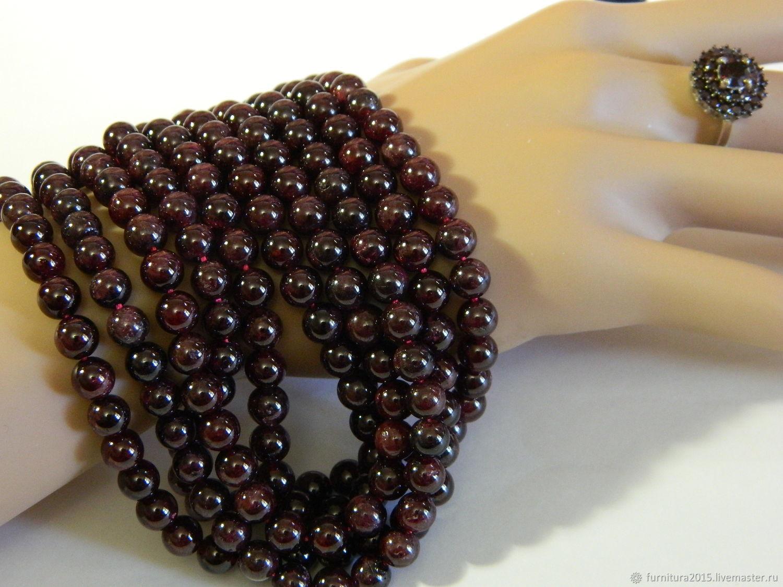 Garnet beads are natural stone. ( GR65) PCs, Beads1, Saratov,  Фото №1