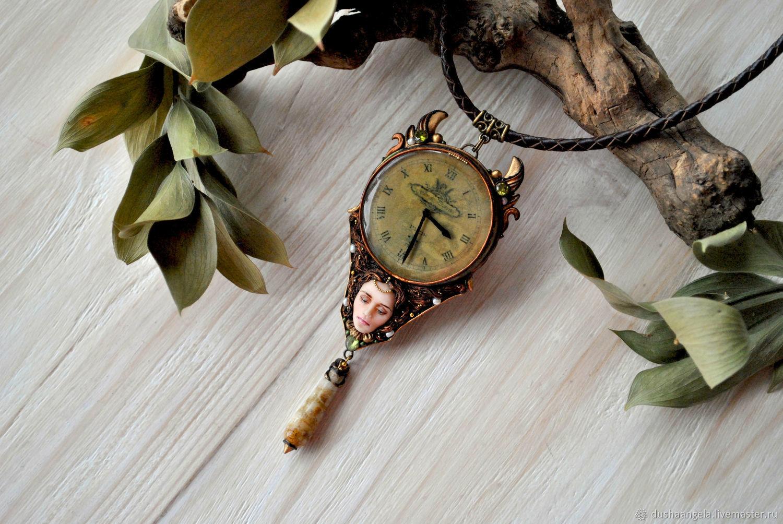Necklace 'Tempus' sculpted miniature, Necklace, Vladimir,  Фото №1