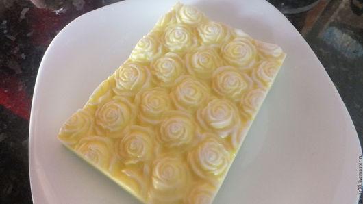 Мыло ручной работы. Ярмарка Мастеров - ручная работа. Купить мыло розы. Handmade. Желтый, мыло сувенирное, масло
