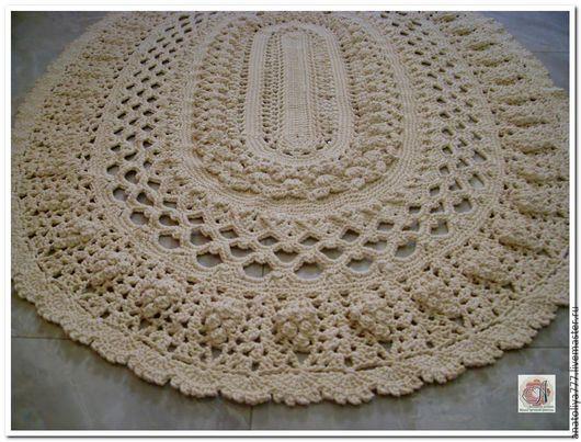 Текстиль, ковры ручной работы. Ярмарка Мастеров - ручная работа. Купить Овальный ковер ручной работы вязаный из шнура Весна. Handmade.