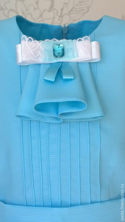 Одежда для девочек, ручной работы. Ярмарка Мастеров - ручная работа. Купить Платье «Ангелина». Handmade. Голубой, одежда для девочек