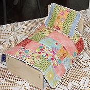 Куклы и игрушки ручной работы. Ярмарка Мастеров - ручная работа Кроватка для зверюшки или куклы (маленькая). Handmade.