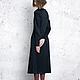 Платья ручной работы. Заказать черное приталенное платье, отделка отстрочками. Vera Olshvang. Ярмарка Мастеров. Платье, платье с рукавом