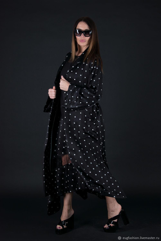 Black, long and elegant cardigan - VE0597CV, Vests, Sofia,  Фото №1