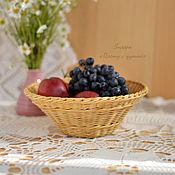 Для дома и интерьера ручной работы. Ярмарка Мастеров - ручная работа Плетеная ваза для фруктов, плетеная корзинка. Handmade.