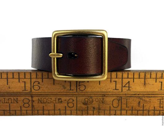 """Браслеты ручной работы. Ярмарка Мастеров - ручная работа. Купить Кожаный браслет  """"Ремень"""" - коричневый. Handmade. Натуральная кожа"""