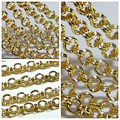 Материалы для творчества handmade. Livemaster - original item Rolo chain 4 mm color gold rhodium YuKorea, (H05). meter. Handmade.