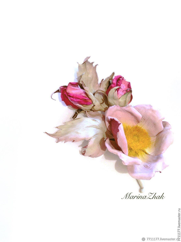 Цветы ручной работы. Ярмарка Мастеров - ручная работа. Купить Шиповник цветущий - ангельский цветок в авторской технике. Handmade.