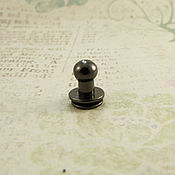 Кнопки ручной работы. Ярмарка Мастеров - ручная работа Кобурная кнопка 7058 блэк никель 6мм. Handmade.