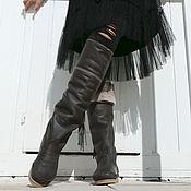 Обувь ручной работы handmade. Livemaster - original item High winter boots boots with natural sheepskin fur. Handmade.