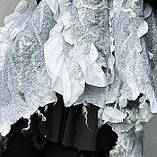 """Аксессуары ручной работы. Ярмарка Мастеров - ручная работа """"На белой волне..."""". Палантин шерстяной.. Handmade."""