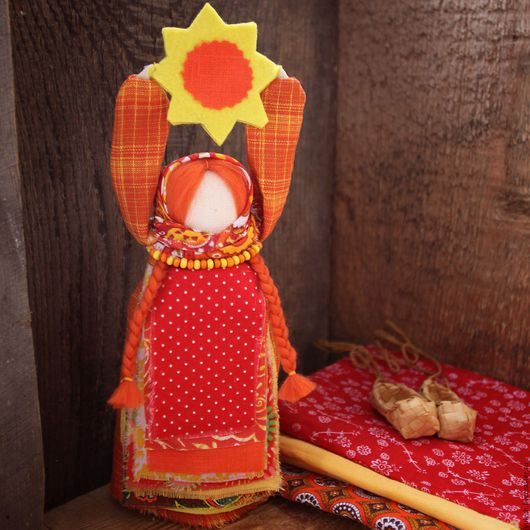 Народные куклы ручной работы. Ярмарка Мастеров - ручная работа. Купить Народная русская куколка Масленица. Handmade. Комбинированный