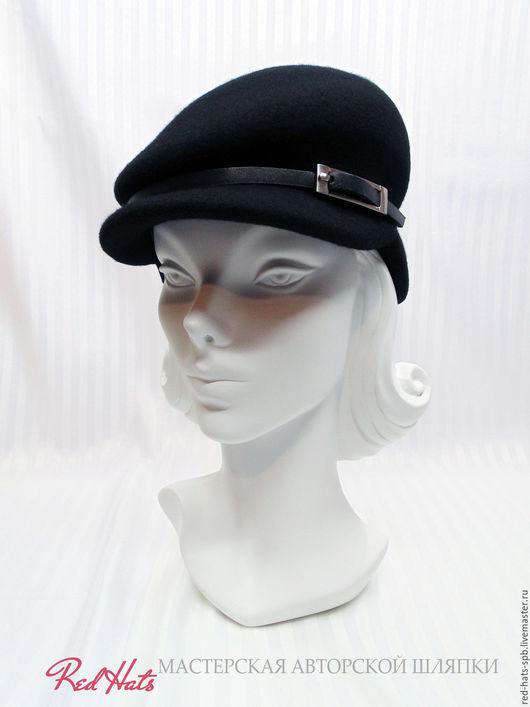 """Шляпы ручной работы. Ярмарка Мастеров - ручная работа. Купить Женская фетровая кепка """"Хулиганка"""". Handmade. Черный, кепи"""