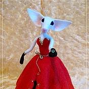 Куклы и игрушки ручной работы. Ярмарка Мастеров - ручная работа Сиамская кошка в Красном платье. Handmade.