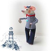 Куклы и игрушки handmade. Livemaster - original item Mini figures and figurines: The mouse-sailor. Handmade.