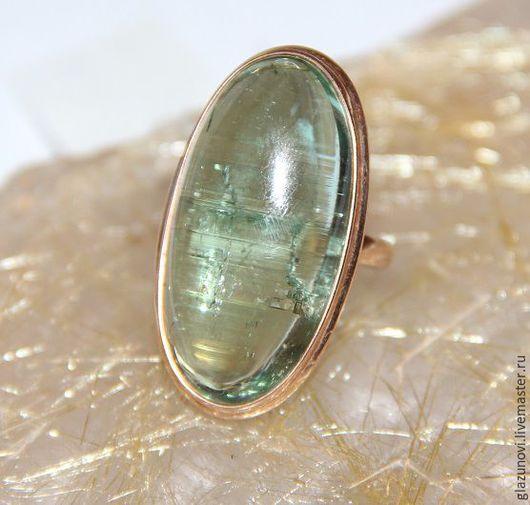 Кольца ручной работы. Ярмарка Мастеров - ручная работа. Купить Золотое кольцо (585) с бериллом. Handmade. Зеленый