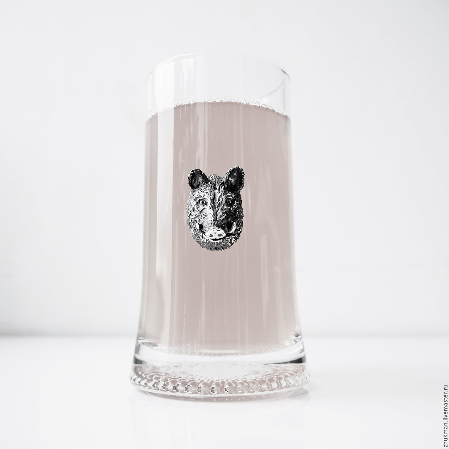 Wild BOAR beer mug (beer mug 0.33 l). The gift on February 23, Gifts for hunters and fishers, Zhukovsky,  Фото №1