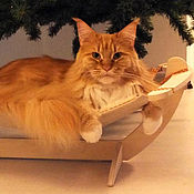 """Для домашних животных, ручной работы. Ярмарка Мастеров - ручная работа Гамак для  кошек и котов """"Горох"""". Handmade."""
