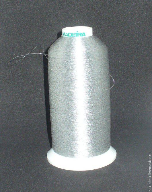 Другие виды рукоделия ручной работы. Ярмарка Мастеров - ручная работа. Купить Люрекс, метанит Madeira цвет серебро - большая бобина. Handmade.