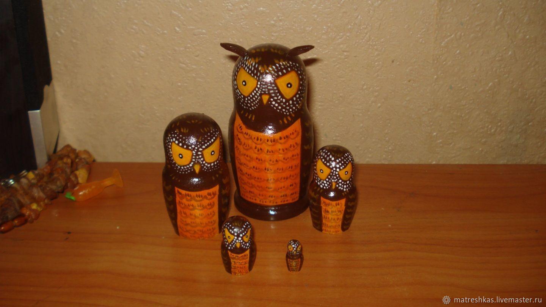 Folk Dolls handmade. Livemaster - handmade. Buy Matryoshka Owl.Owl, matryoshka