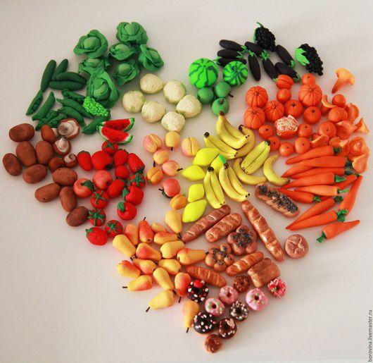 Овощи/фрукты из полимерной глины. Для заказа пишите в wa на номер 89123570140
