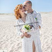 Одежда handmade. Livemaster - original item Wedding knit dress
