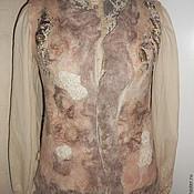 Одежда ручной работы. Ярмарка Мастеров - ручная работа жилет валяный Крестьянка. Handmade.