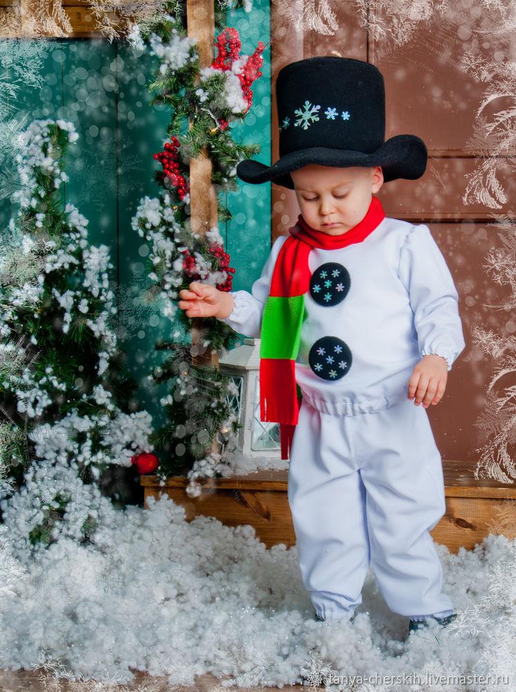 Снеговик костюм детский своими руками