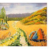 Картины и панно ручной работы. Ярмарка Мастеров - ручная работа Очищены поля и собран урожай. Handmade.