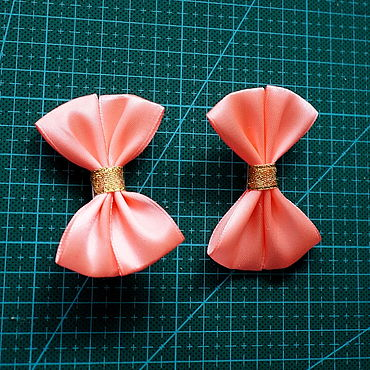 Decorations handmade. Livemaster - original item CLIPS: Coral bows. Handmade.