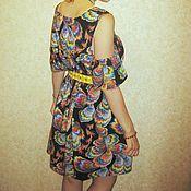 Одежда ручной работы. Ярмарка Мастеров - ручная работа Платье летнее с открытыми плечами. Handmade.