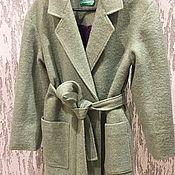 Одежда ручной работы. Ярмарка Мастеров - ручная работа Шерстяное пальто из итальянского букле. Handmade.