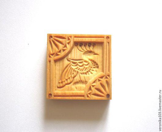 Кухня ручной работы. Ярмарка Мастеров - ручная работа. Купить Большой пресс для печенья птица. Резьба по дереву. Handmade. Коричневый