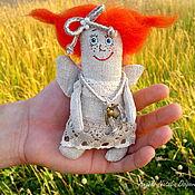 Куклы и игрушки ручной работы. Ярмарка Мастеров - ручная работа Рыжий ангелочек (текстильная куколка). Handmade.