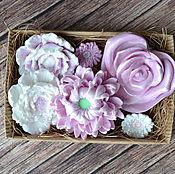 Косметика ручной работы. Ярмарка Мастеров - ручная работа Набор мыла цветочный 2. Handmade.