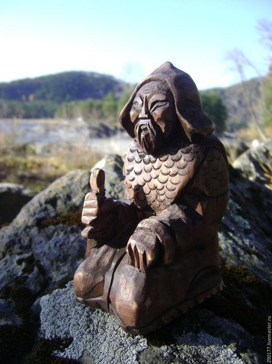 """Статуэтки ручной работы. Ярмарка Мастеров - ручная работа. Купить миниатюра """"ВОИН"""". Handmade. Коричневый, статуэтка, подарок, Изделие из дерева"""