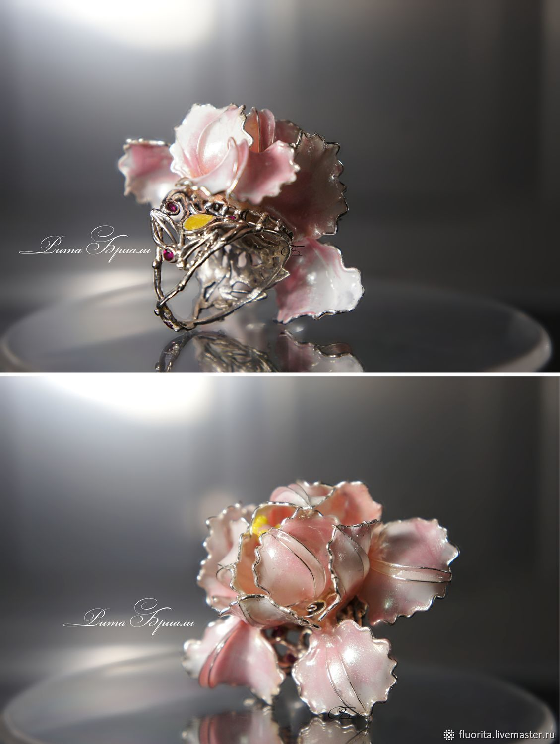 Collectible Silver Ring Precious Flower, Rings, St. Petersburg,  Фото №1