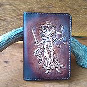 Сумки и аксессуары handmade. Livemaster - original item Passport cover made of genuine leather