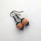 Украшения handmade. Livemaster - original item wooden earrings. Handmade.