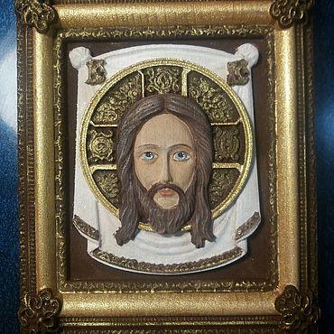 Картины и панно ручной работы. Ярмарка Мастеров - ручная работа Икона Спаситель. Handmade.