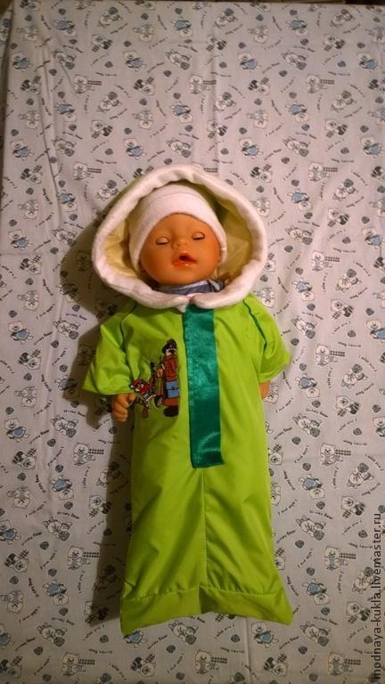 Одежда для кукол ручной работы. Ярмарка Мастеров - ручная работа. Купить Прогулочный конверт для пупса с шапкой (типа Бэби Борн). Handmade.