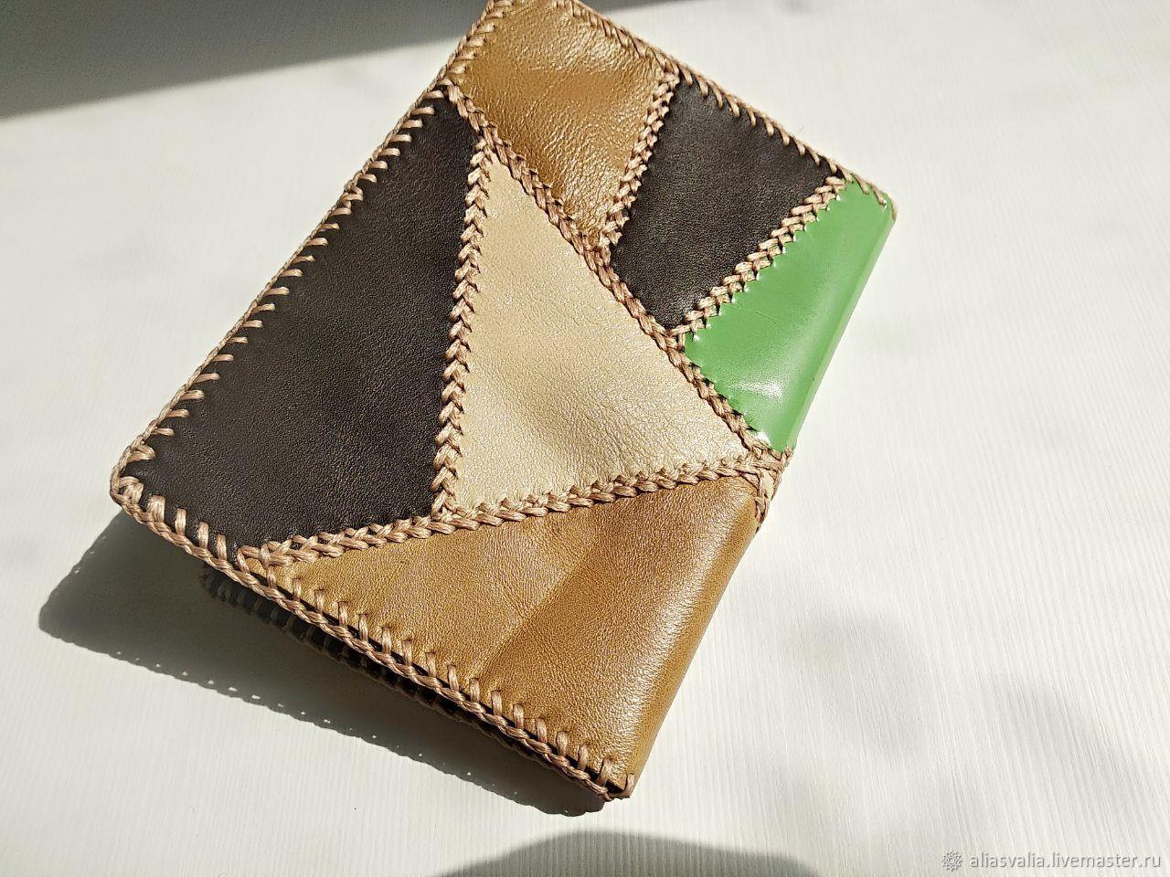 Wallets & Business Card Holders handmade. Livemaster - handmade. Buy Y0157 pechvork passport Cover.Skin.Alia Svalia.