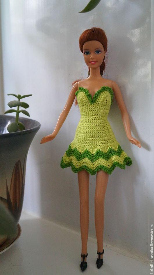 Одежда для кукол ручной работы. Ярмарка Мастеров - ручная работа. Купить Нарядное платье для Барби. Handmade. Зеленый, одежда для барби