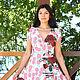 """Платья ручной работы. Ярмарка Мастеров - ручная работа. Купить Авторское платье""""Рози"""". Handmade. Комбинированный, нарядное платье, алая роза"""